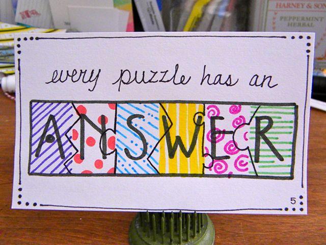 005 ~ Puzzle
